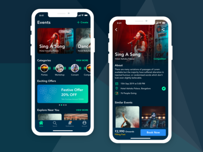 Events App Mobile UI