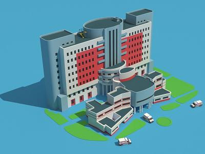 Bojnurd Imam Hasan Hospital bojnurd isometric illustration