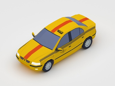 Samand Taxi - Isometric