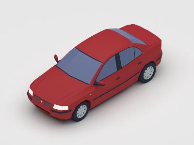 Samand Lx 3d art car digital 3d 3d design v-ray 3d vector low poly 3dsmax vehicle iran illustration isometric