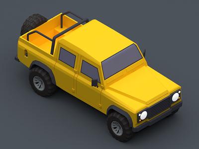 Land Rover Pazhan suv land rover branding design isomatric car digital 3d 3d design 3d art v-ray 3d vehicle iran 3dsmax illustration low poly isometric