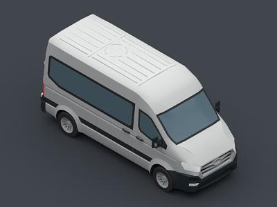 Hyundai H350 van hyundai branding design vector isomatric car digital 3d 3d design 3d 3d art v-ray vehicle 3dsmax iran illustration low poly isometric