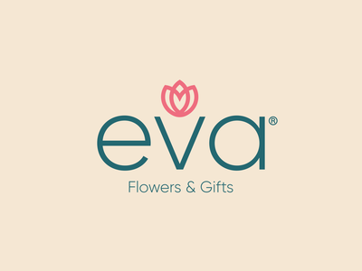 eva Brand Identity flowers typedesign typeface vector minimal typography minimalism inspiration icon design illustration design branding logo
