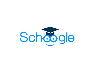 Schoogle academic education students branding simple flat learn logo