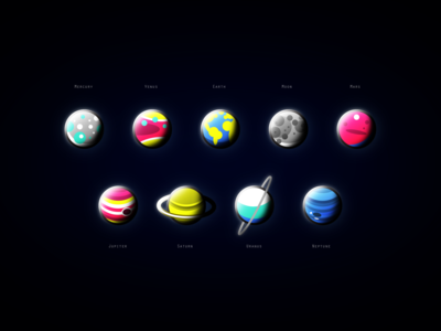 Solar System Planets - Icons