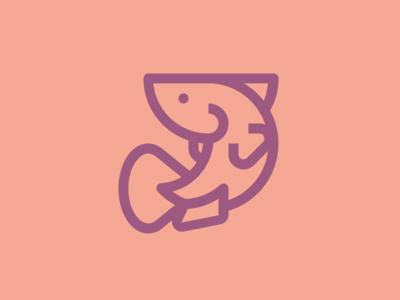 Fish - Monoline Icon