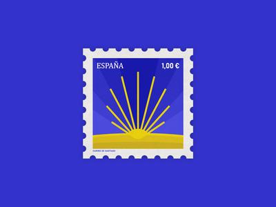 Stamp Concept: Spain, the Camino de Santiago