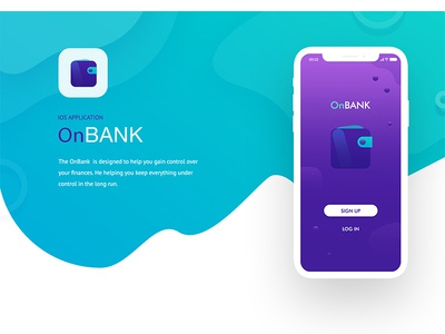 OnBANK IOS Application design web site user experience special offer online banking landing page pictogram