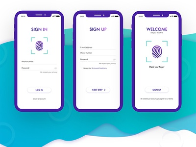 OnBANK IOS Application/Login Screens user experience design web site service fintech branding identity online banking credit debit card uiux login screens