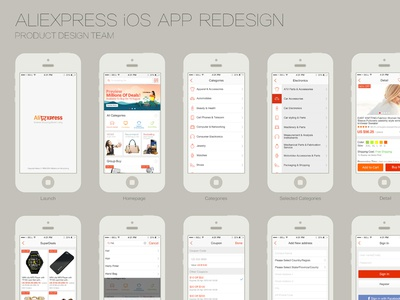 Redesign AliExpress iOS APP