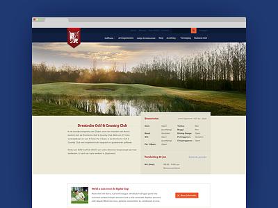 DGCC webdesign flat golf blue light website iwink