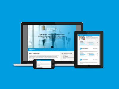 Energystock corporate blue responsive flat website webdesign grey white clean iwink