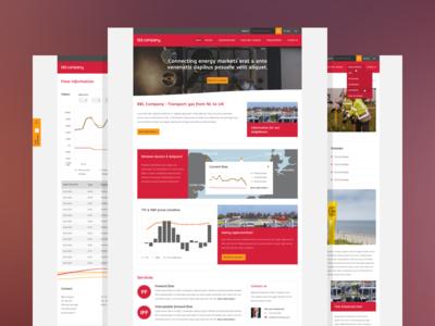 BBL Company website red grey website web design iwink responsive clean flat modern ui interface web