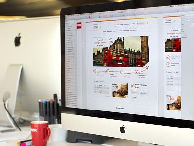 Groningen Airport web iwink clean flat responsive webdesign design website airport