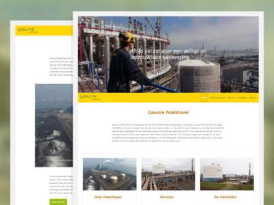 Gasunie Peakshaver website responsive clean webdesign website modern flat
