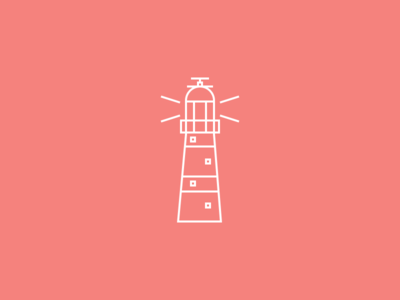 Lighthouse line icon clean simple lighthouse icon outline