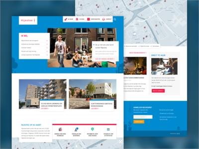 Nijestee Website responsive ux ui web design webdesign website illustrated housing iwink flat clean