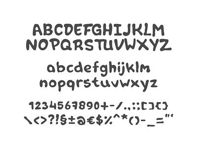 Font in progress: Tipper hand drawn glyphs progress marker type font typeface