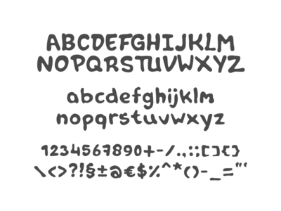 Font in progress: Tipper hand drawn glyphs progress marker type font typeface