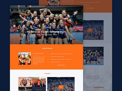 ilionx Volleybal modern clean flat webdesign website onepage sport olympics iwink volleybal