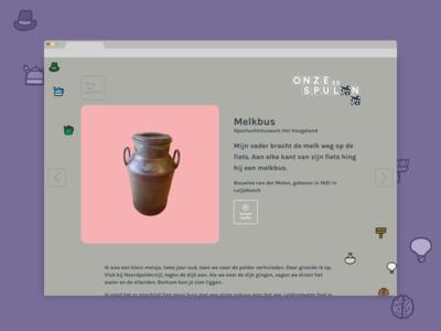 Onze Spullen ui interface webdesign clean responsive modern museum flat website