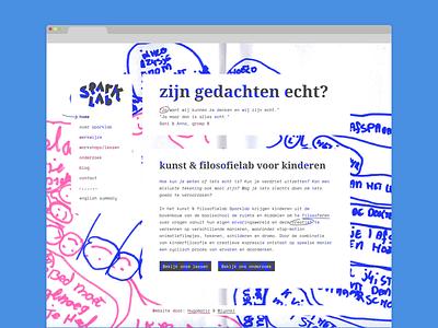 Sparklab homepage interface art philosophy webdesign ui ux website