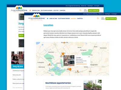 Noorderboog care iwink web design light clean modern website interface ux ui