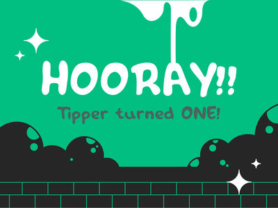 My font Tipper turned one! typography free free font tipper typeface font hand-drawn freebie