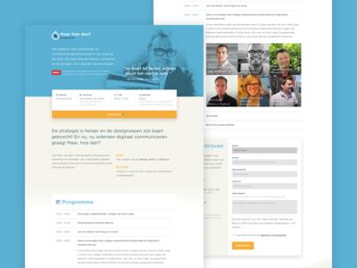 Maar Hoe Dan - Website halftone interface modern design website iwink web clean flat ux ui
