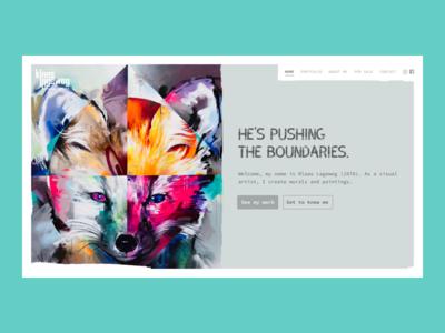 A painters' website modern ui texture splitscreen webdesign artist portfolio