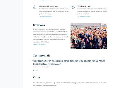 De Kleine Consultant ui ux clean interface web design responsive consultants students iwink