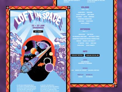 Loft in Space Festival website