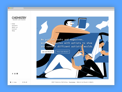 Yes! Chemistry Publishing monospace publishing responsive modern interface webdesign ux ui clean
