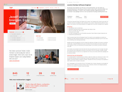 Werken bij TKP - website jobs web design iwink interface responsive ui website clean