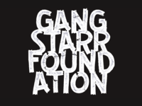 Gang Starr Foundation type hip hop typography texture type