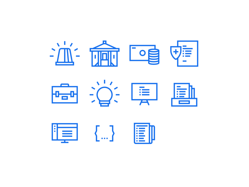 Custom icons clean icons icon set icon design iconography