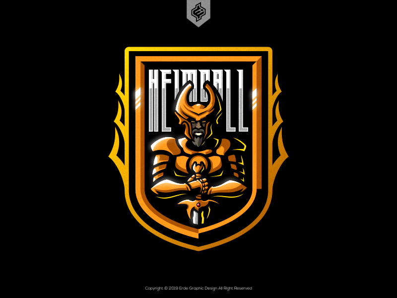 Heimdall eSports Mascot Logo by Erde Graphic Design on Dribbble