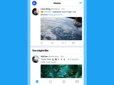 Twitter Redesign: Simplified Timeline bold typography minimal stroke icons redesign typography twitter