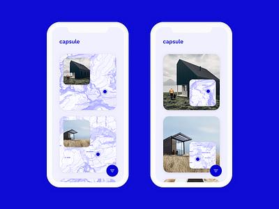 Capsule architecture map minimal app iphone-x iphone travel