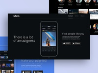 Landing page and content page