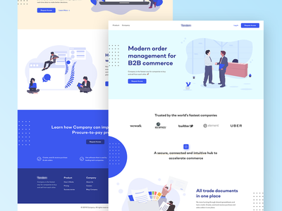 Landing Page for B2B Service