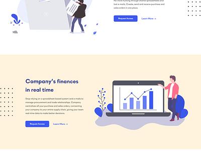 Landing Page for B2B Service undraw uiux startup service saas management landingpage illustration homepage enterprise company business b2b