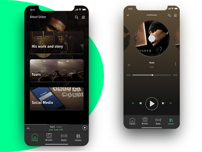 Spotify Player Concept of Usability Daily UI #009 Music Player