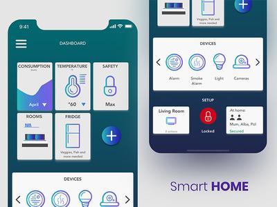 Daily UI #021 Smart Home Dashboard