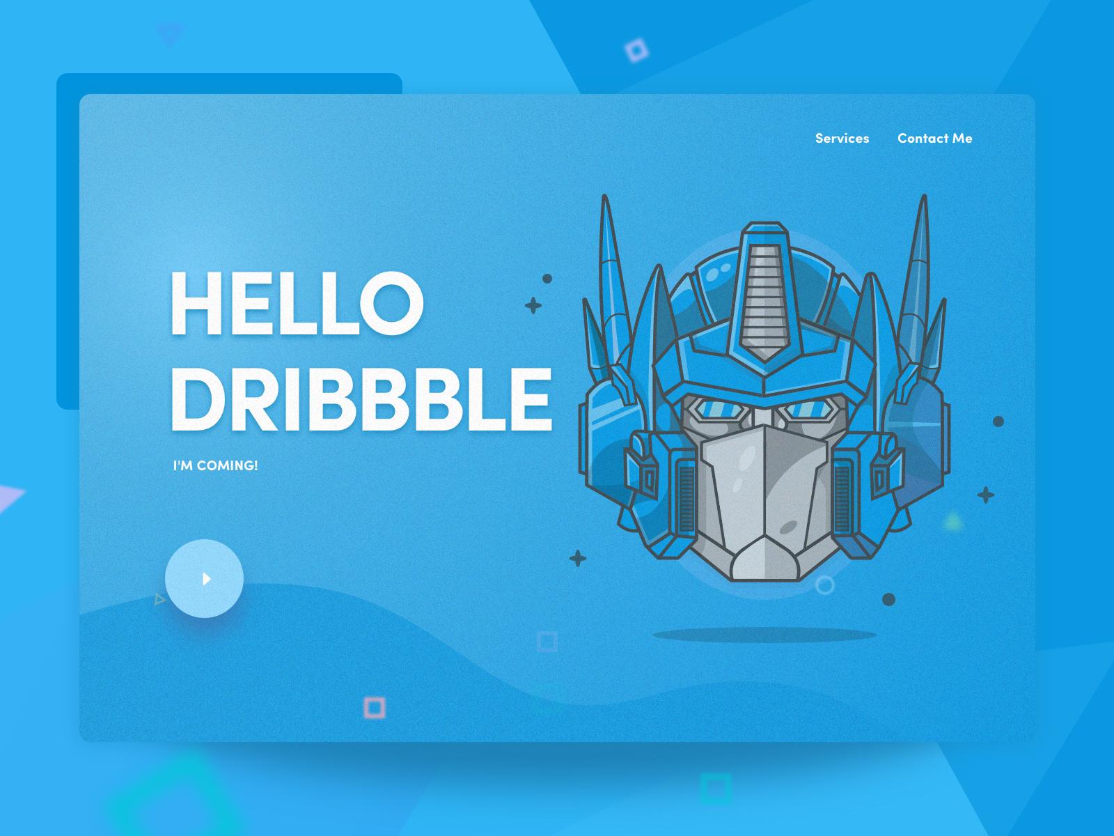 Hello Dribbble ui 设计 插图