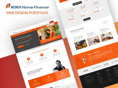 Home Finance | Landing Page Design