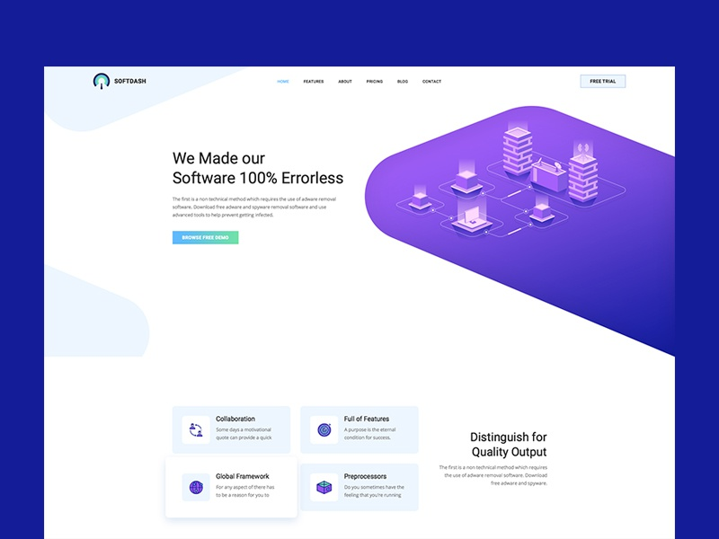 Softdash Template Design ui design software saas