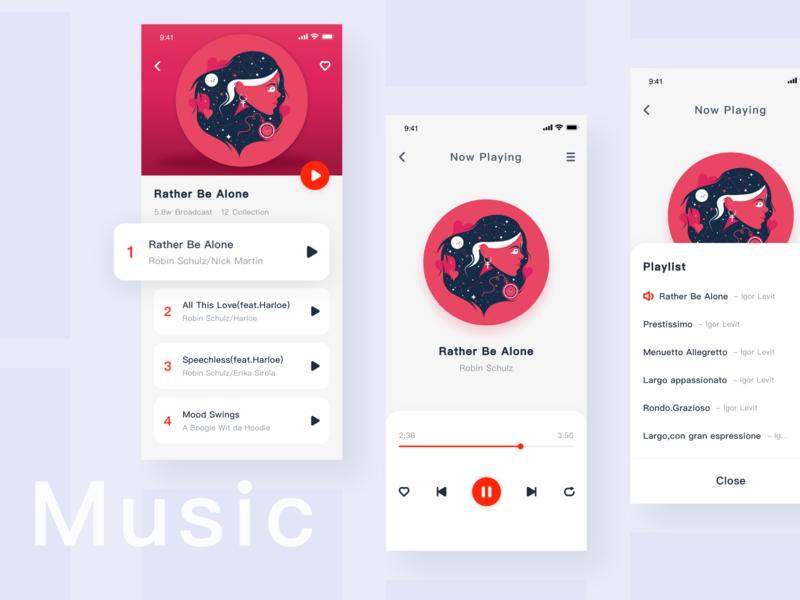 music UI ux design icon ui