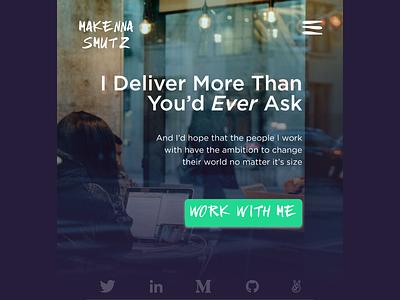 Daily Ui 003  |  Landing Page coding design marketing figma personal portfolio daily ui