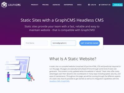 Easier Landing Page SignUp Form static site generator react signup gatsbyjs coding figma